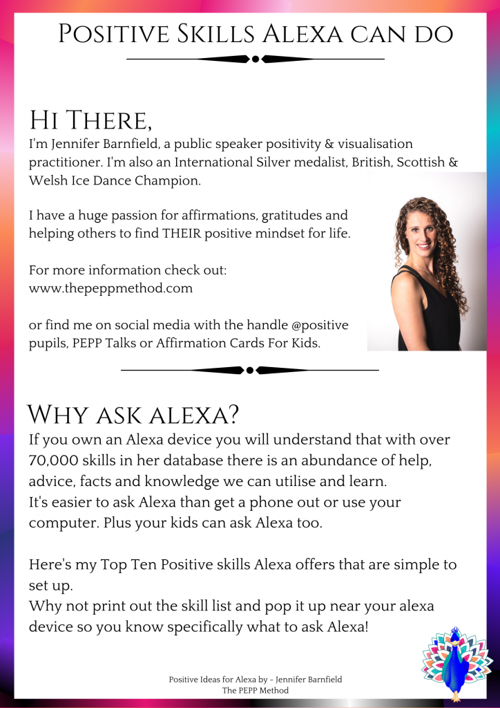 Positive skills for Alexa - - Jennifer Barnfield - The PEPP Method